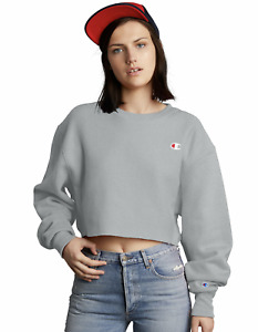 Champion Life Cropped Cut Off Sweatshirt Reverse Weave Fit Logo