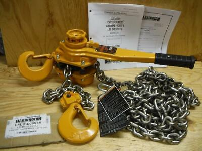 Hoist Lift Lever Chain Hoist 6000 lb 10 ft 1-5//16 Hook Opening Load Capacity