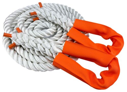 NYLON KINETIC 12 TONNE RECOVERY TOW ROPE 4 x 4-4.5 METRE X 28MM FREE DELIVERY