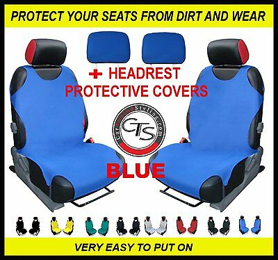 2x T-SHIRT CAR FRONT SEAT COVER PROTECTOR RED For Vauxhall Zafira A B