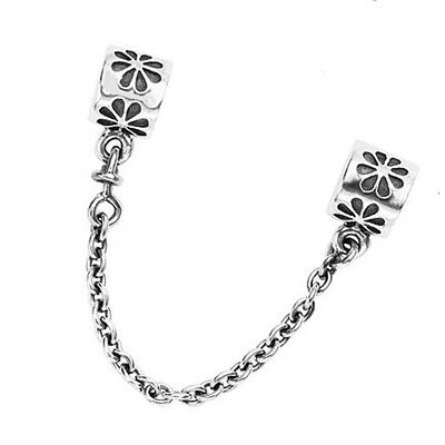 Genuine PANDORA Silver Floral Safety Chain 790385 **FREE DELIVERY**