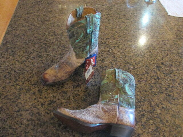 Tony Lama women's VF 6027 Vaquero Western Boots 7 B  leather Square toe cowgirl