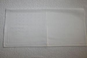 Antike-Leinentuecher-Handtuecher-Geschirrtuch-a-echtem-Leinen-Weiss-Muster-56x55cm
