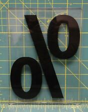 Percentage 00 7 X 5 Acrylic Wagner Zip Change Marquee Sign Changeable Letter