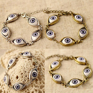 Fashion-Lucky-Gold-Silver-Evil-Eye-Chain-Bracelet-Cuff-Bangle-Women-Jewelry