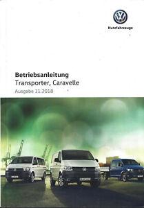 VW-TRANSPORTER-CARAVELLE-T6-Betriebsanleitung-2019-Bedienungsanleitung-BA