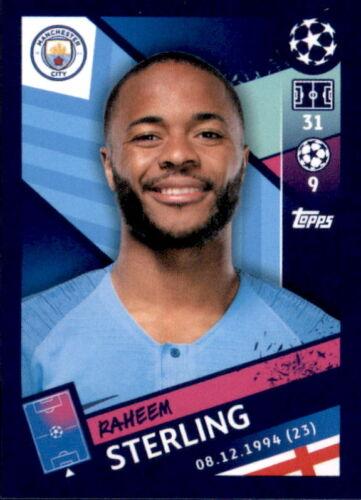 Sticker 171 Raheem Sterling Topps Champions League 18/19
