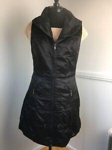 Ladies-Fitted-Long-Waistcoat-Gothic-Glamz-Sleeveless-Tunic-Black-Size-10-12