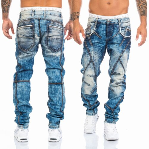 CIPO /& Baxx hommes COUTURES JEANS pantalon 269 BLEU NEUF w28 29 30 31 32 33 34 36 38 40