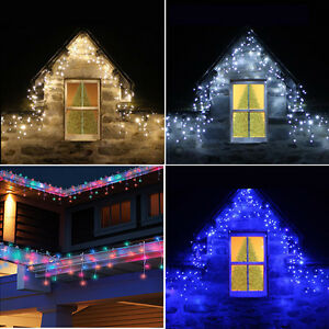 Connectable 4m 25m icicle snowing falling christmas outdoor house image is loading connectable 4m 25m icicle snowing falling christmas outdoor aloadofball Choice Image