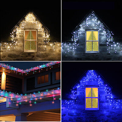 8 Mix-actions 5M-25M Blue LED Xmas Icicle Snowfall Falling String Lights Hanging