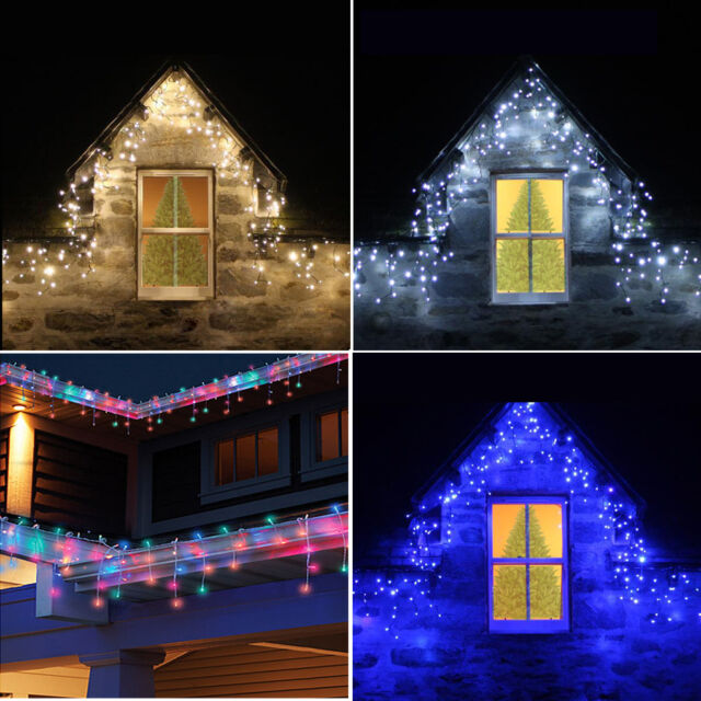 finest selection 83a6c 1f542 Connectable 5M-25M Icicle Snowing Falling Christmas Outdoor LED Fairy  Lights UK