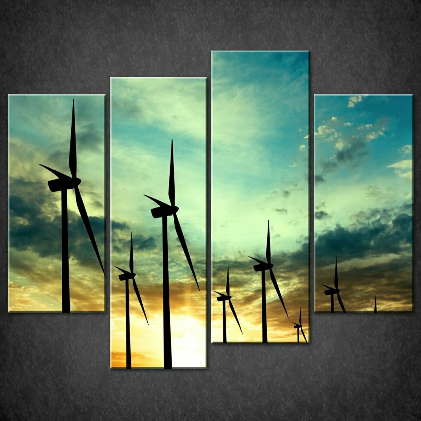 WIND TURBINES LANDSCAPE CANVAS PRINT PICTURE WALL ART FREE FAST FAST FAST DELIVERY 78d7a6