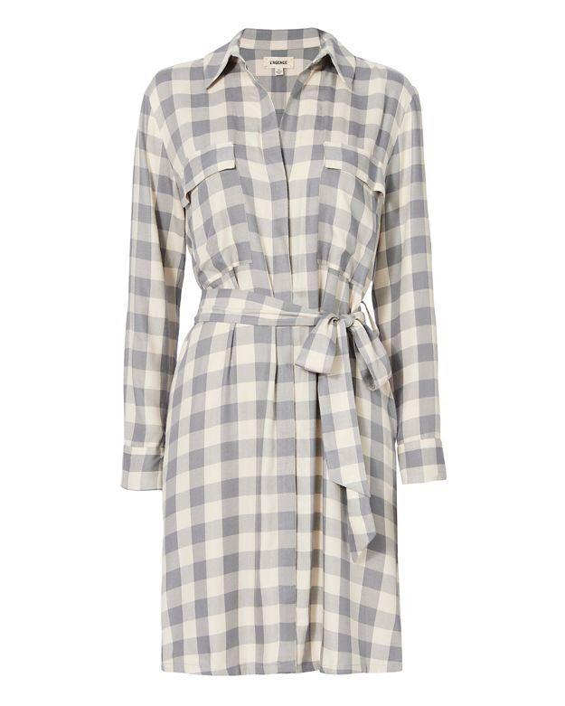 L'Agence Stephanie Gingham Shirt Dress NWT NWOT  Small, Medium