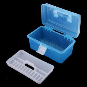 2 x Hobby Craft Box Case 18cm x 14cm x 4cm Clear Compartments Storage Organiser