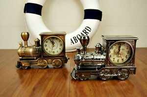 Vintage-Train-Engine-Style-Locomotive-Alarm-Clock-Novelty-Xmas-Gift-Alarm-Clock