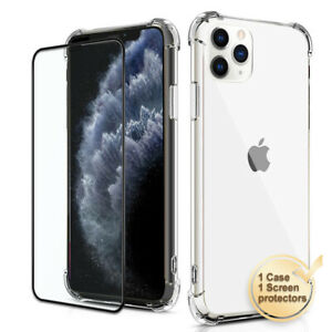 Clear-Gel-Case-with-Tempered-Glass-Screen-Protector-for-iPhone-11-Pro-Max-XS-XR