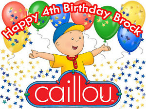 CAILLOU Edible CAKE Topper Decoration Frosting Sheet Image FREE