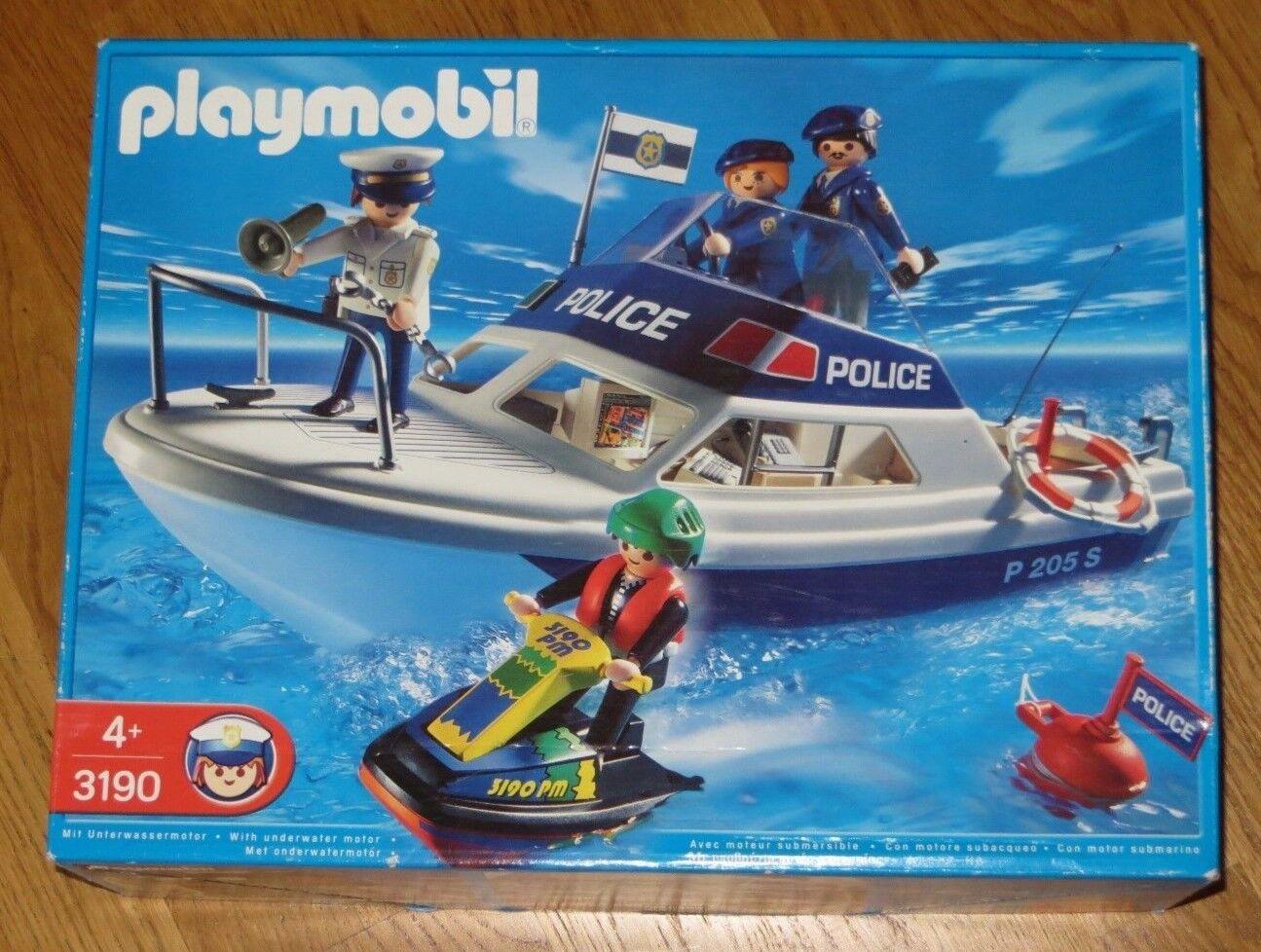 PLAYMOBIL 3190 - PolizeiStiefel Jet Ski Neu und OVP
