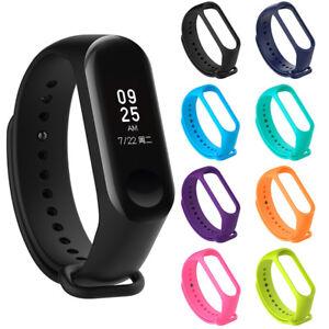 Adjustable-Xiaomi-Mi-Band-3-Bangle-Silicone-Strap-Bracelet-Wristband-Accessory