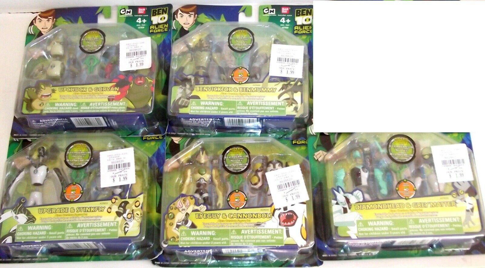 Ben 10 Action Figure Ultimate Alien Force creation 2 packs 5 LOT MOC BRAND NEW