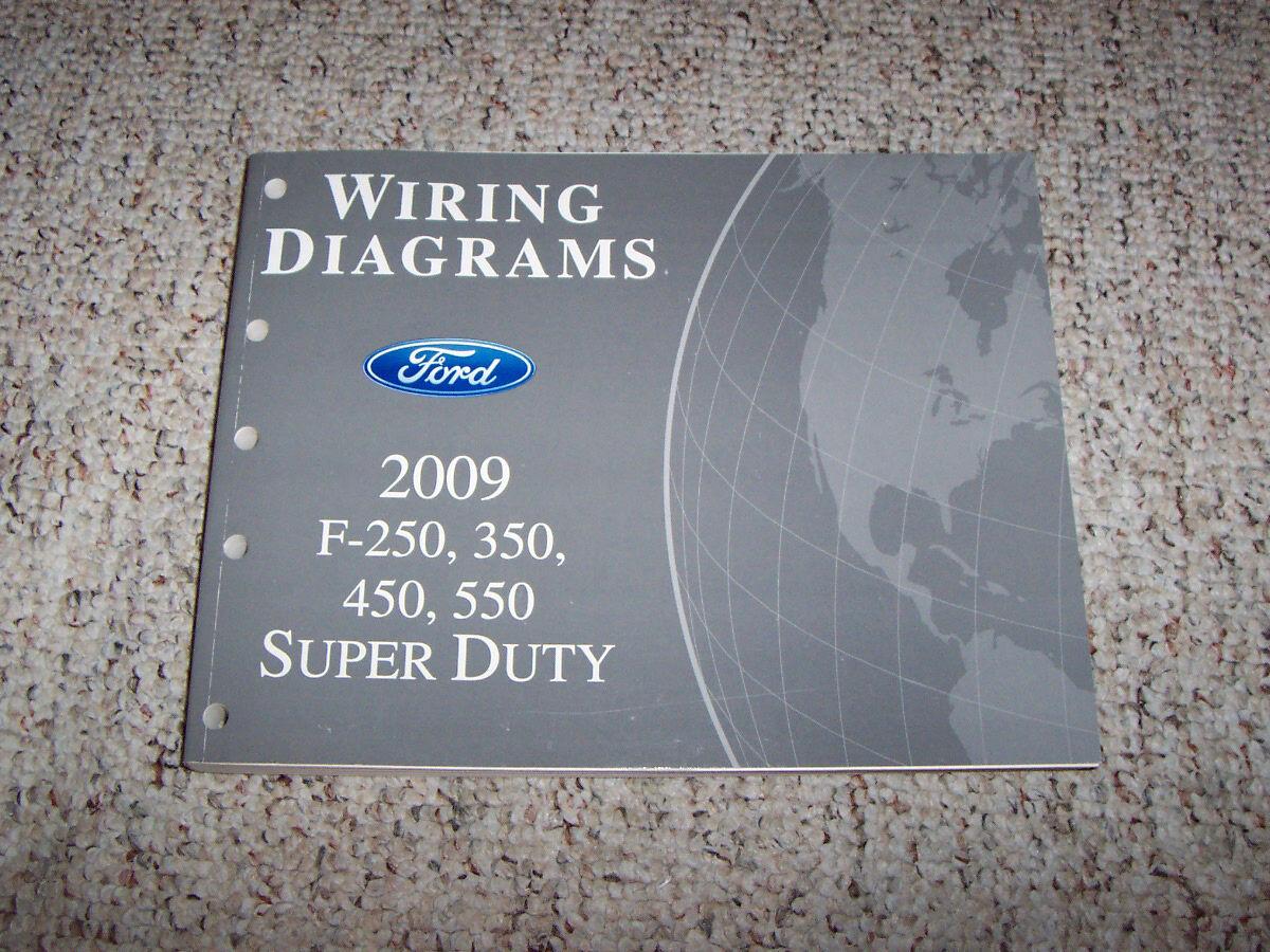 2009 Ford F550 Super Duty Electrical Wiring Diagram Manual 6 4l Diesel Xl Xlt Ebay