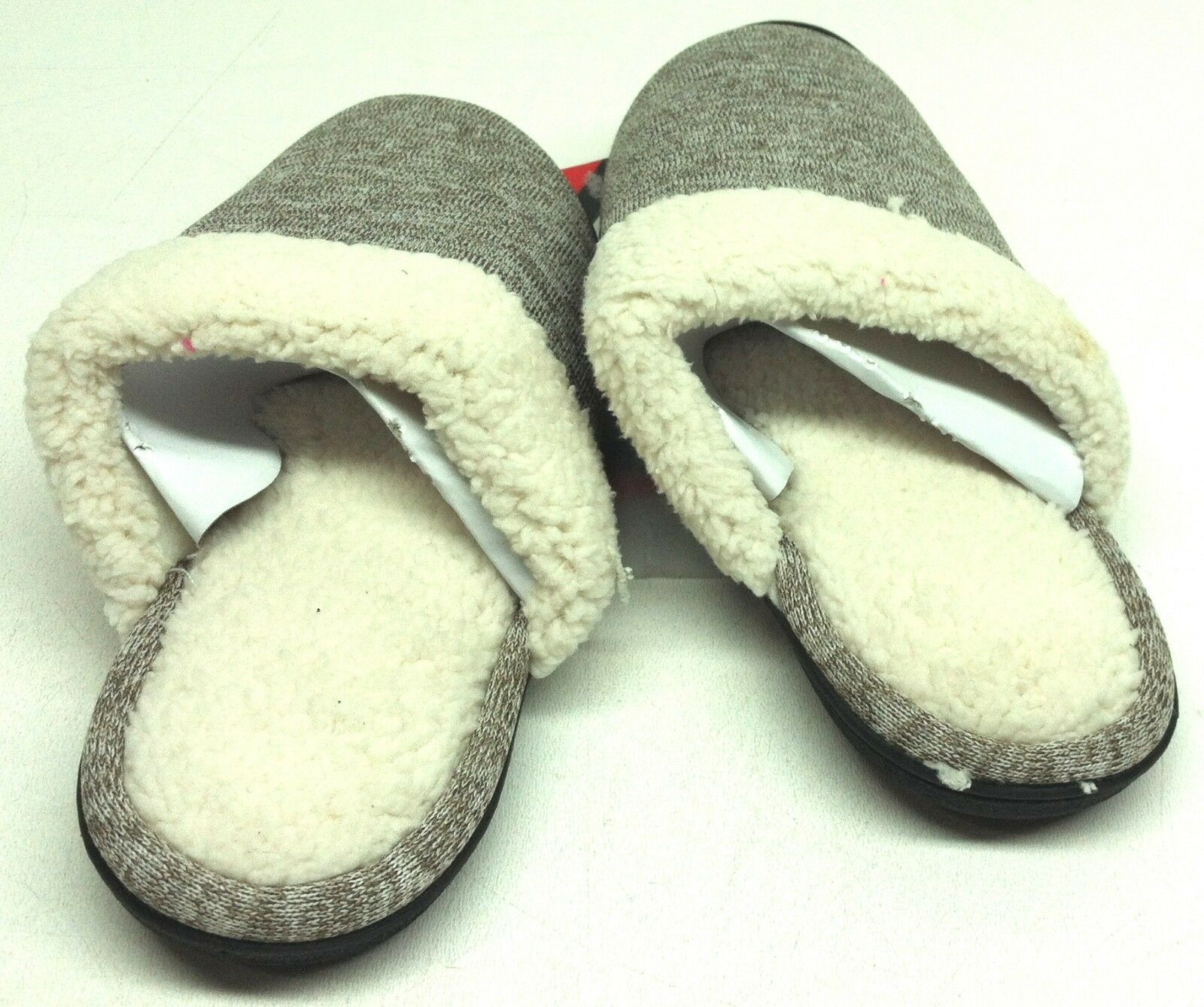 Isotoner Women's Kiley Knit Hoodback Clog Slip On Slippers Size 7.5 - 8