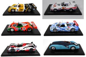 Set di 6 modellini di automobili 24h LE MANS - 1:43 SPARK Diecast Auto Da Corsa LM50
