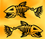x2 stickers for car truck boat kayak fish bass decal awesome fishing sticker