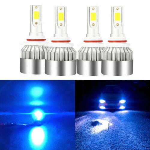 4X 9005 9006 Ice Blue LED Headlight Bulb For Chrysler 300 2005-2009 Hi//Low Beam