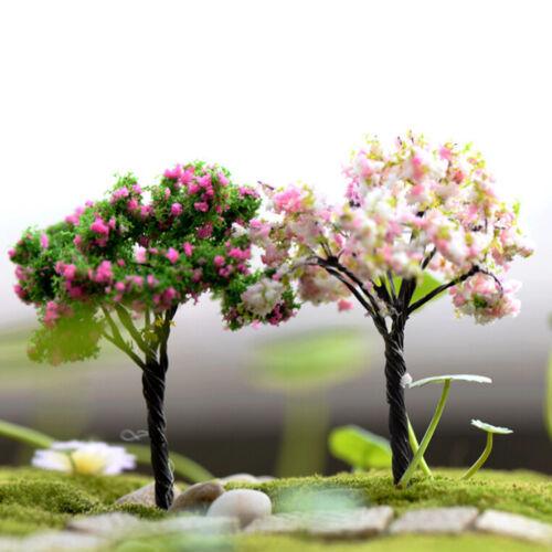Miniature Sakura Tree Plant Fairy Garden Accessories Dollhouse Ornament DecHEP
