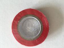 1 Rouleau de Scotch Isolant Electrique 10 mètres 15 mm couleur rouge neuf