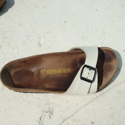 Birkenstock Sandals Size UK 4 Eur 37 Womens Buckles White Madrid Cork Sandals | eBay
