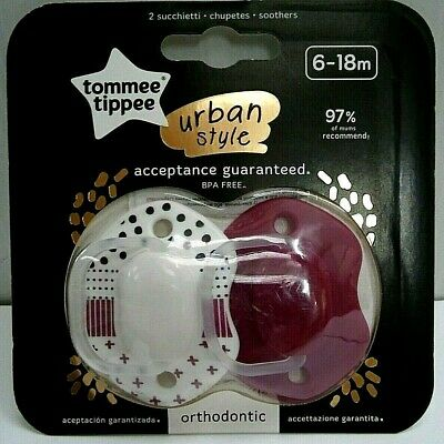 0 To 6 Months Pack Of 2 Tommee Tippee Urban Style Soother