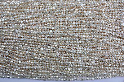 BR50 Zuchtperlen Strang Süßwasser Perlen Schmuck Kette Halsketten 5-6mm barock