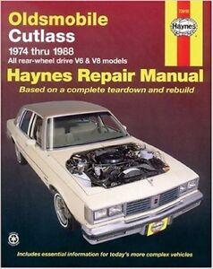oldsmobile cutlass service shop repair manual 1974 1975 1976 1977 rh ebay com 1972 Oldsmobile 1986 Oldsmobile