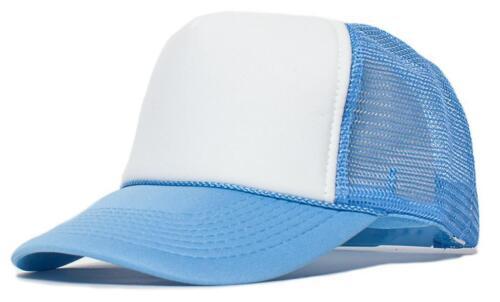 Classic Plain Blank Foam Mesh Truckers Curved Bill Hat Baseball Cap Snapback