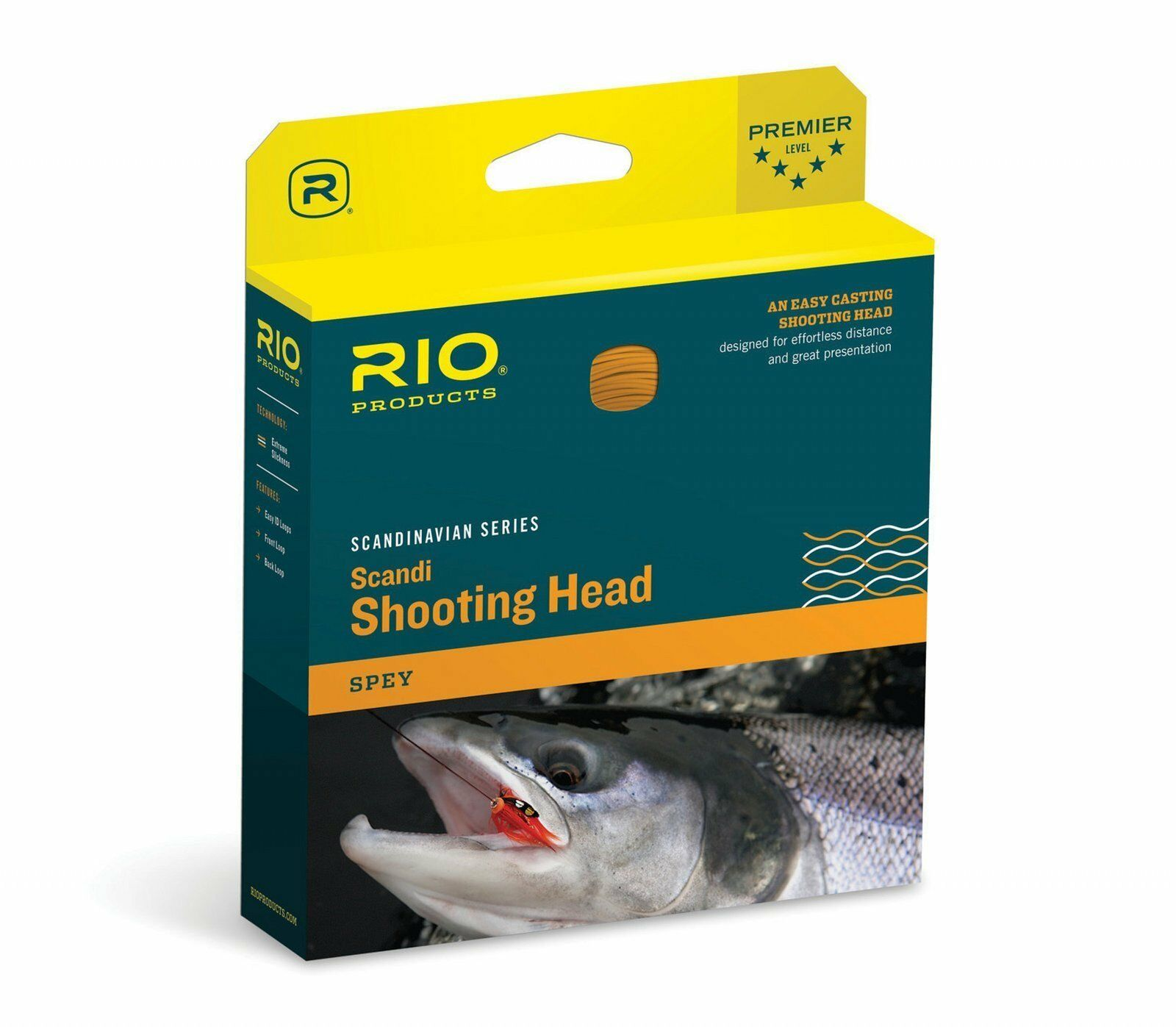 RIO NEW SCANDI SHORT 420-GR 420-GR SHORT 6/7 WT SPEY ROD CONNECTCORE SHOOTING FLY LINE HEAD 282160
