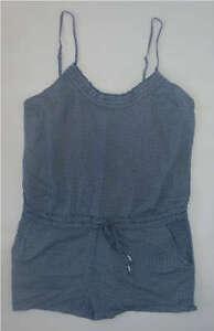 Womens-AEROPOSTALE-Floral-Pintuck-Woven-Romper-Dress-NWT-8638