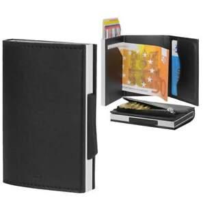 Ogon-Kartenboerse-Cascade-Wallet-Zipper-mit-Muenzfach-Kartenetui-Miniboerse-schwarz