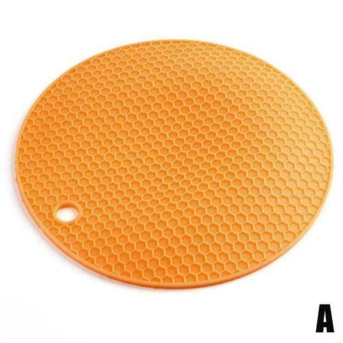 Silicone Pot Pads Heat Resistant Non Slip Circle Mats DIY Placemats I6N0