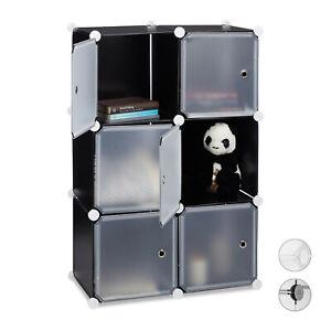 Etagere-cubes-penderie-armoire-6-casiers-plastique-modulable-DIY-noir