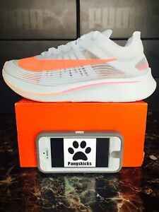 top fashion bc72a 79cf2 Image is loading Nike-Zoom-Fly-SP-039-Neon-Orange-039-