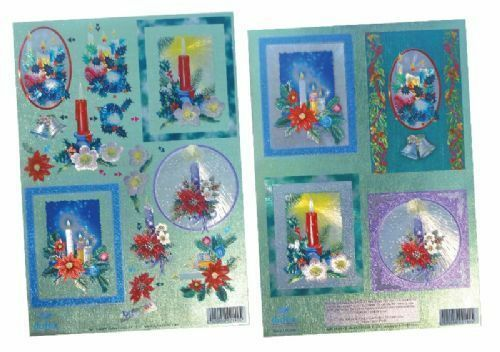 Dufex Die Cut Decoupage 248856 Christmas Candles Twin Pack