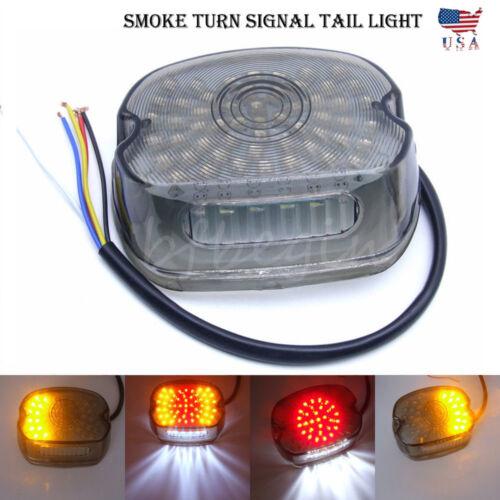 Smoke LED Brake Turn Signal Tail Light For Harley Tour Road King glide Dyna FXR
