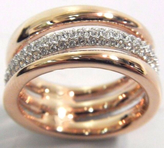 0bd87f4f6 EXACT CRYSTAL RING ROSE GOLD SIZE 8 EUR 58 2016 SWAROVSKI JEWELRY 5221573