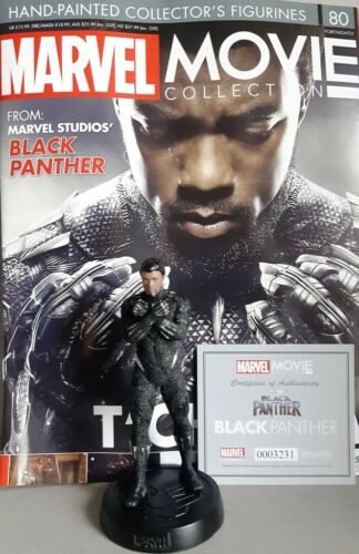 EAGLEMOSS englisch Black Panther MARVEL MOVIE COLLECTION #80 T/'Challa Figurine