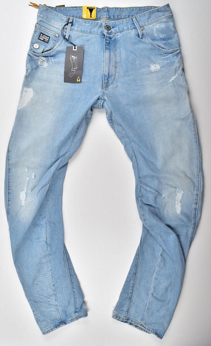 G-Star Raw, Arc 3d Loose Fuselé, Aged, Lt Aged, Fuselé, Used   Vintage Jeans w36 l32 neuf! 11f9dd