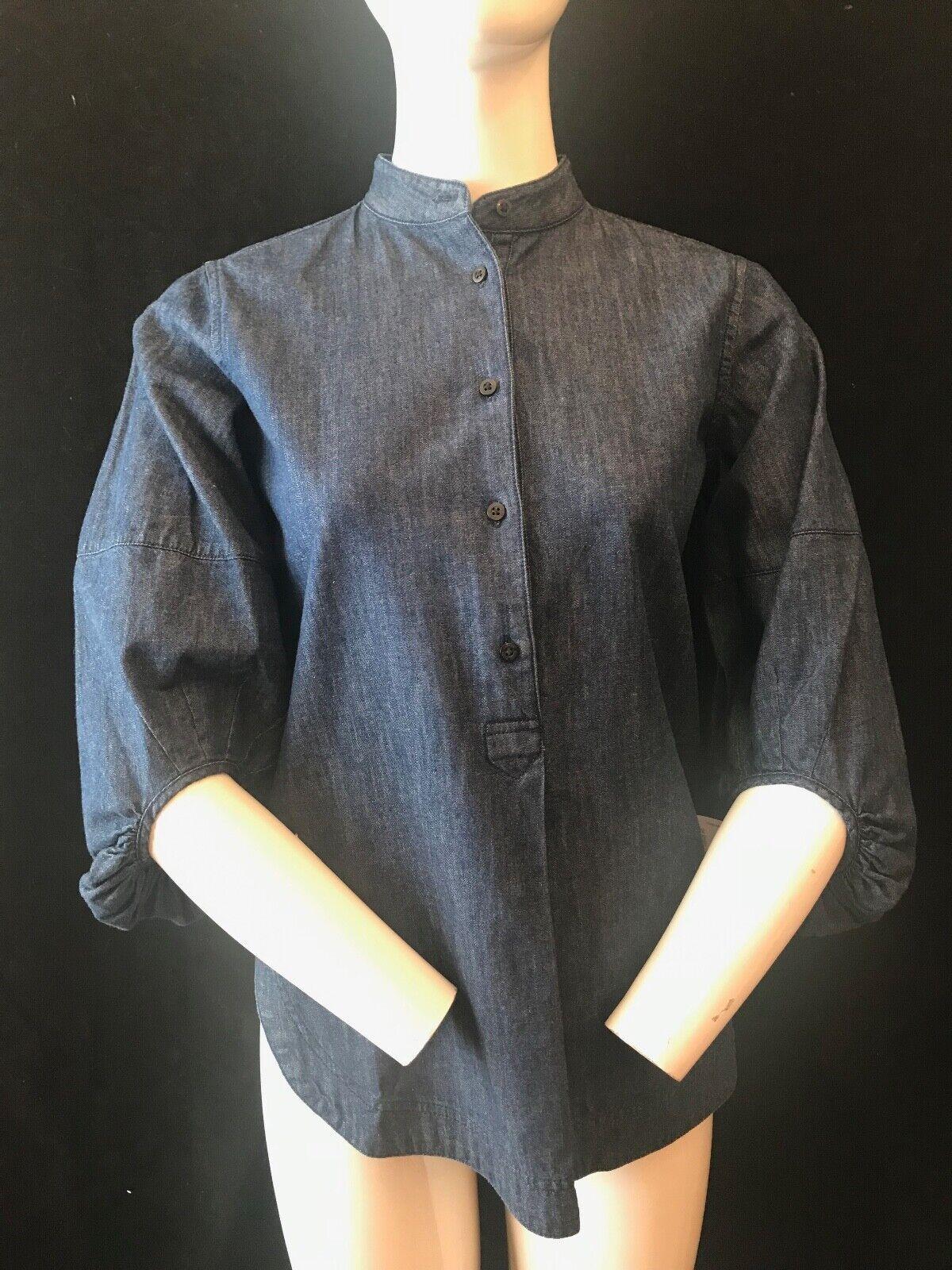 BNWT LAUREN Ralph Lauren s 3 4 Sleeve Grandad Denim Shirt Chest 34  RRP
