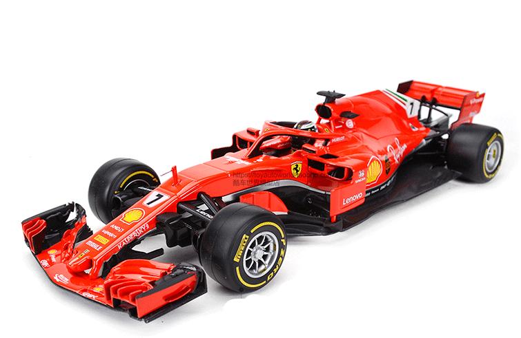 2018 Bburago 1 18 Ferrari F1 SF71H NO.7 NO.7 NO.7 Kimi Raikkonen Diecast Model Racing New a055e4